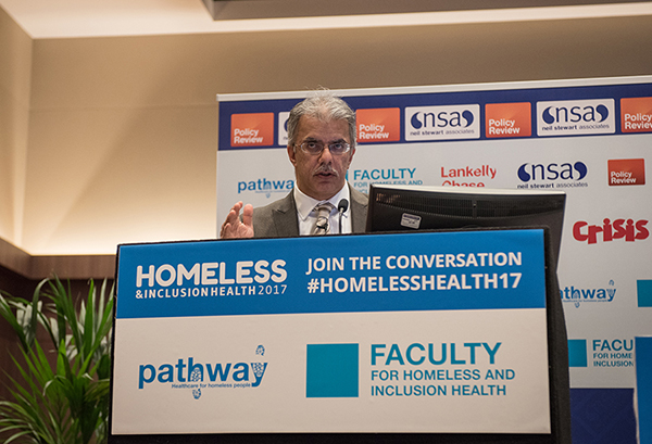 Dr Arvind Madan addresses Homeless Health 2017