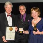 tim accepting award